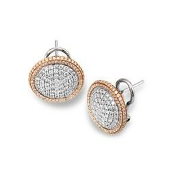 Elegant Simon G Two Tone Earrings