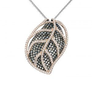 Stunning Simon G Diamond Leaf Pendant
