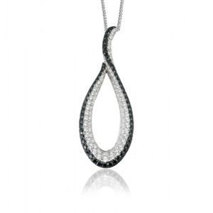 Simon G Black and White Diamond Pendant