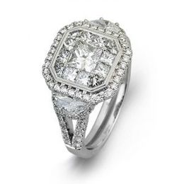 Simon G Mosaic Diamond Fashion Ring