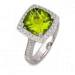 Simon G Peridot and Diamond Fashion Ring