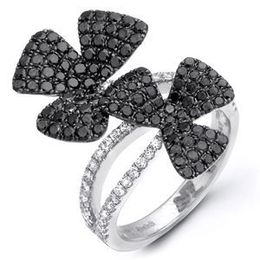 Gorgeous Simon G Black Diamond Fashion Ring