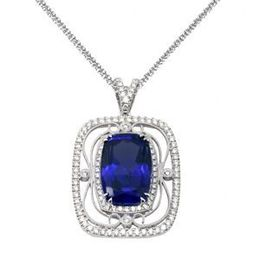 Simon G Designer Tanzanite and Diamond Pendant