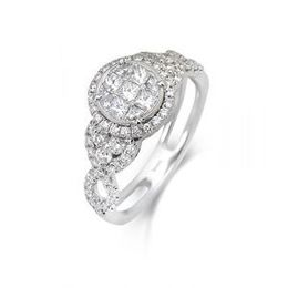 Simon G Multi Stone Diamond Engagement Ring