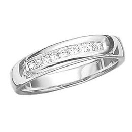 1/2 Carat Mens Princess Cut Diamond  Ring