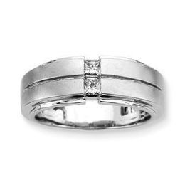 1/5 Carat Princess Cut Diamond Mens Ring