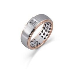 Simon G Two Tone Diamond Mens Ring