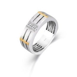Simon G Two Tone Gold Diamond Fashion Ring