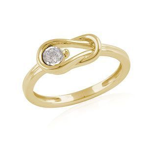 10K Yellow Gold 1/10Ct Everlon Ring
