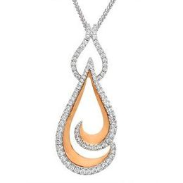 Two Tone Simon G Diamond Fashion Pendant