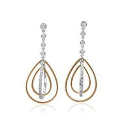 Simon G Two Tone Fashion Earrings