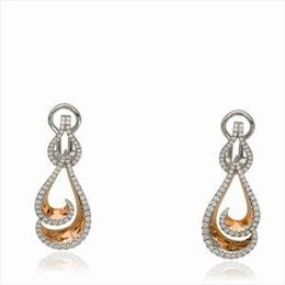 Simon G Two Tone Diamond Earrings