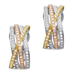 Simon G Tri Tone Diamond Fashion Earrings