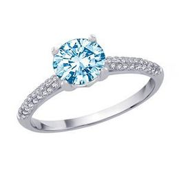 1 Carat Blue Diamond Engagement Ring