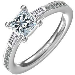 Harout R Princess Cut Diamond Engagement Ring
