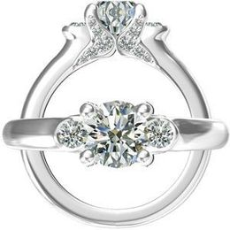 Harout R Three Stone Diamond Engagement Ring