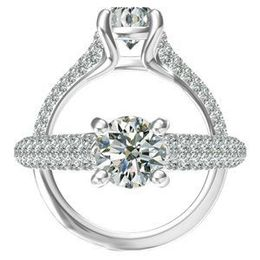 Round Center Diamond Harout R Engagement Ring