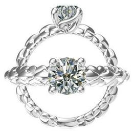 Harout R Interlocking Shank Engagement Ring