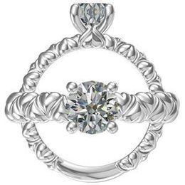Harout R Ribbon Shank Diamond Engagement Ring