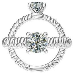 Harout R Rope shank Diamond Engagement Ring