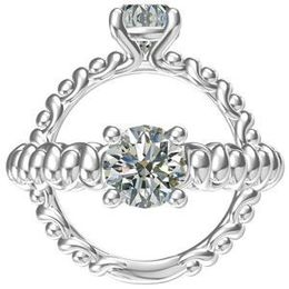 Harout R Finger Design Shank Engagement Ring