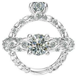 Harout R Single Pave Undergallery Engagement Ring