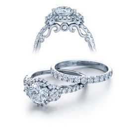 Three Stone Verragio Insignia Diamond Engagement Ring