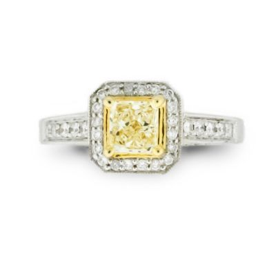 Yellow Princess Center Antique Style Ring