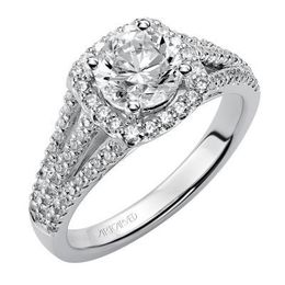 ArtCarved Split Shank Diamond Engagement Ring