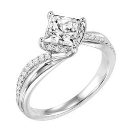 ArtCarved Princess Cut Twisted Engagement Ring