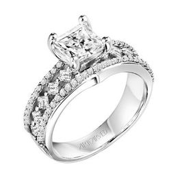 ArtCarved Princess Cut Engagement Ring