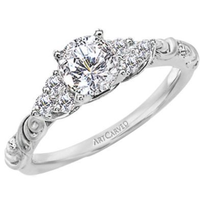 ArtCarved Floral Design Engagement Ring