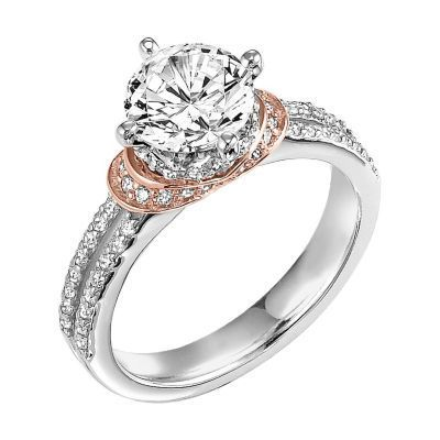 ArtCarved Rose Gold Accented Engagement Ring 31V311GRR