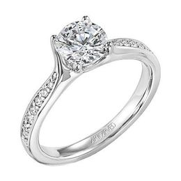 ArtCarved Pave Diamond Engagement Ring