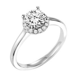 ArtCarved Halo Solitaire Ring