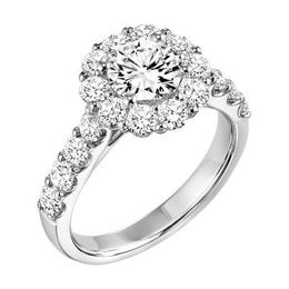 ArtCarved Round Diamond Halo Engagement Ring