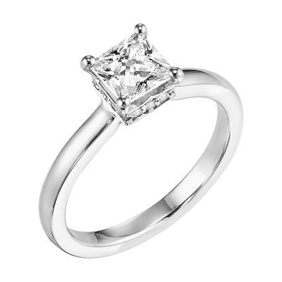 ArtCarved Princess Cut Solitaire Ring