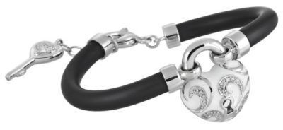 Belle Etoile Key to My Heart White Bracelet