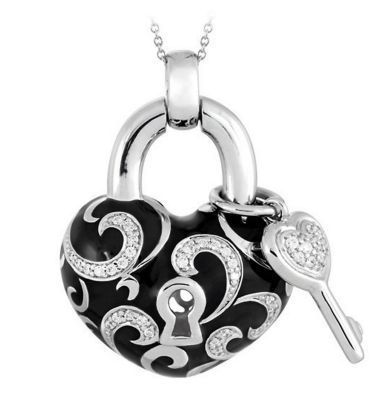 Belle Etoile Key to My Heart Black Pendant