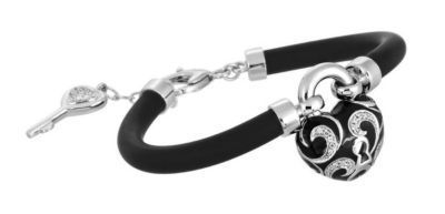 Belle Etoile Key to My Heart Black Bracelet