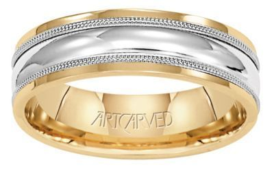ArtCarved Hammond Men's Wedding Band