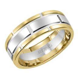 ArtCarved Chariton Two Tone Wedding Band