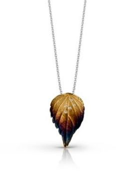 Simon G Diamond Fashion Leaf Pendant