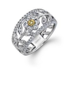 Simon G Floral Diamond Fashion Ring