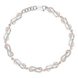 Two Tone Diamond Infinity Tennis Bracelet