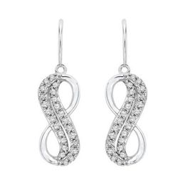 Diamond Infinity Symbol Earrings