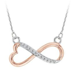 Two Tone Diamond Infinity Pendant