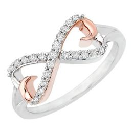 Two Tone Diamond Infinity Ring