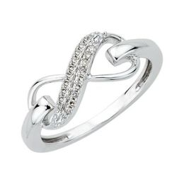 Two Row Diamond Infinity Ring