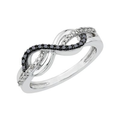 Black and White Infinity Symbol Ring